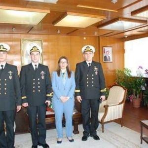 Gemi Komutanından Vali Çetinkaya'ya Ziyaret