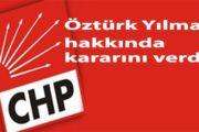 CHP O İSİM HAKKINDA KARARINI VERDİ